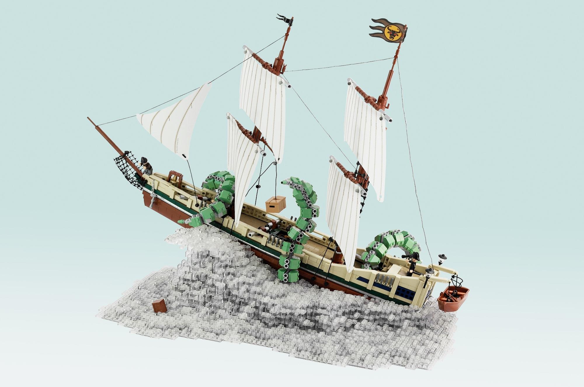 LEGO Moc Iron Builder 2016 Schiff Kraken