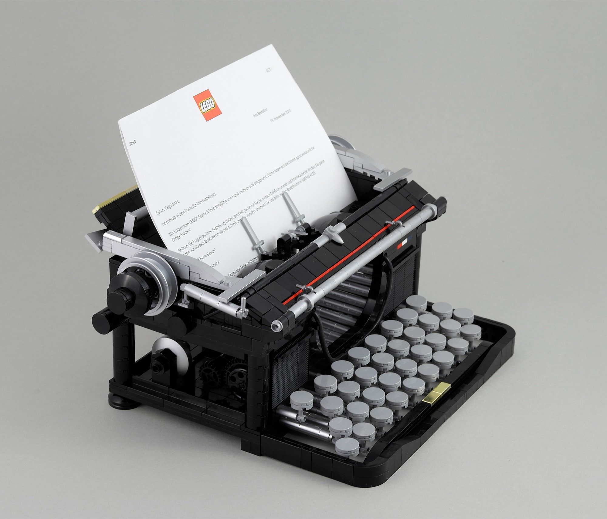 LEGO Moc Iron Builder 2016 Schreibmaschine