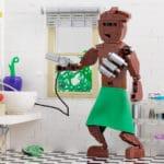 LEGO Moc Iron Builder 2016 Wookie Im Bad