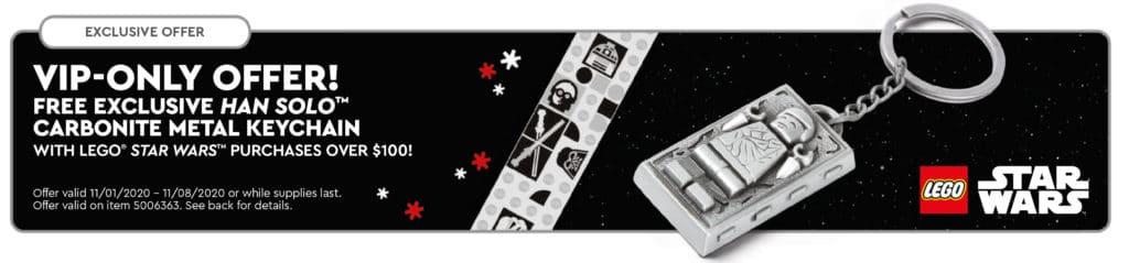 LEGO Star Wars 5006363 Han Solo Carbonite Keychain
