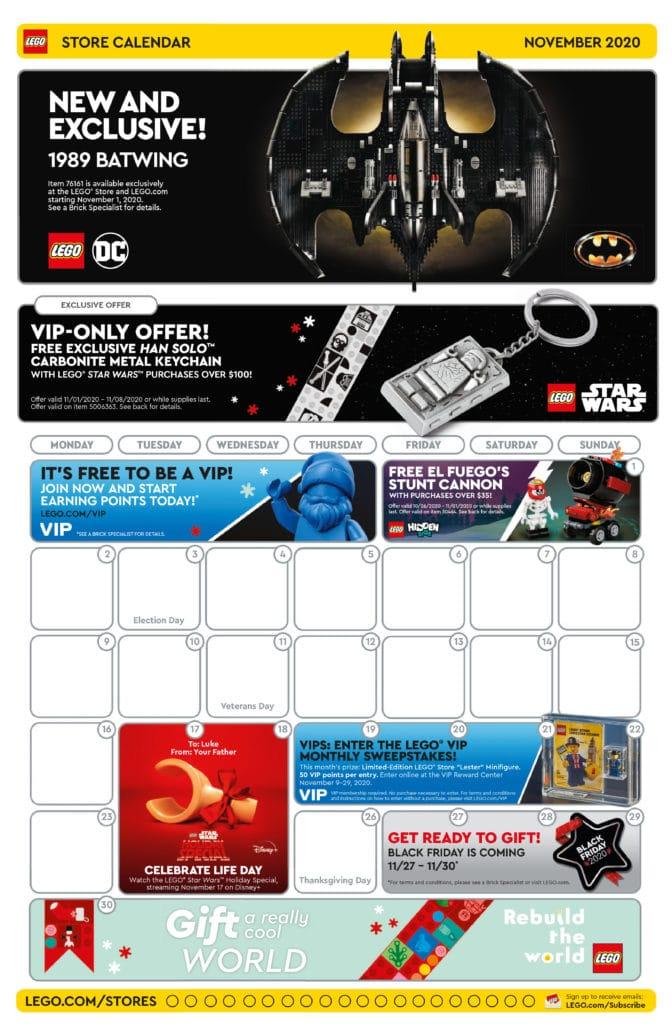 LEGO Store Flyer November 2020 (Seite 1)