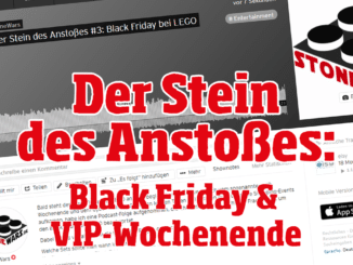 Der Stein des Anstoßes: Black Friday & VIP-Wochenende bei LEGO
