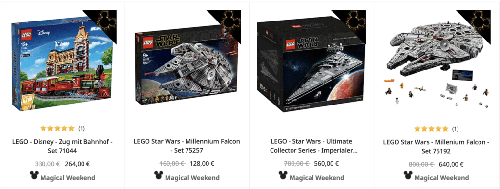 Disney Shop LEGO Angebote Black Friday