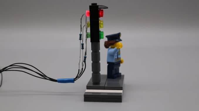 LED Ampel Seitansicht