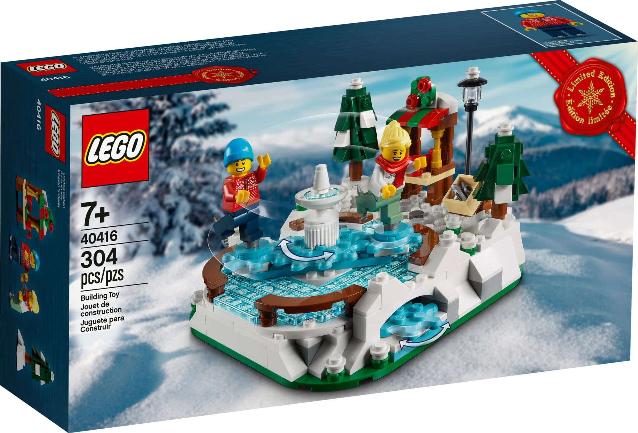 LEGO 40416 Eislaufplatz Gratisbeilage Box