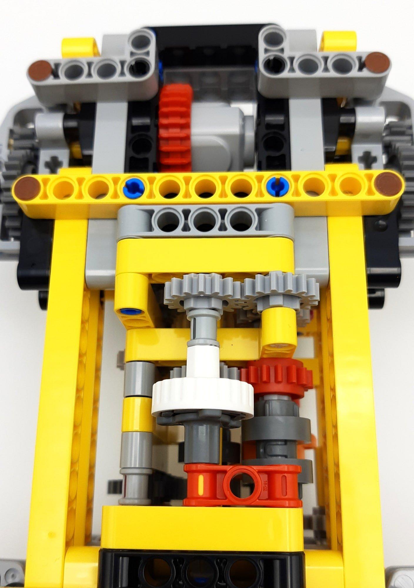 LEGO 42114 Knickgelenkter Volvo Dumper Bauabschnitt 1 Detail Rutschkupplung