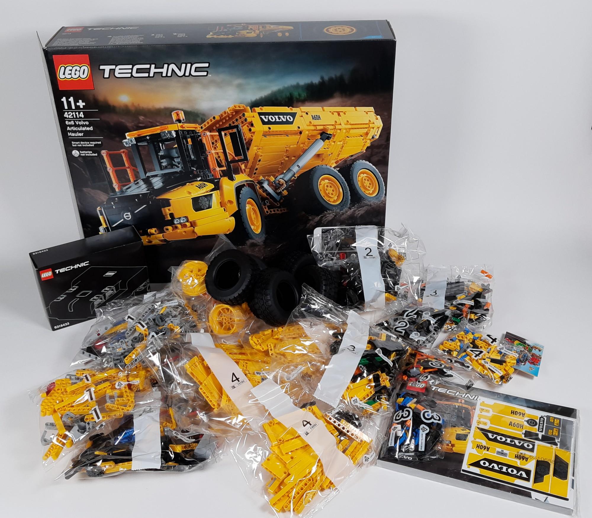 LEGO 42114 Knickgelenkter Volvo Dumper Box Inhalt