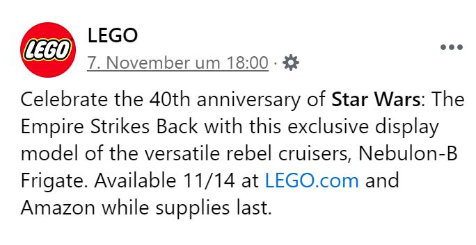 LEGO 77904 Verkaufsstart