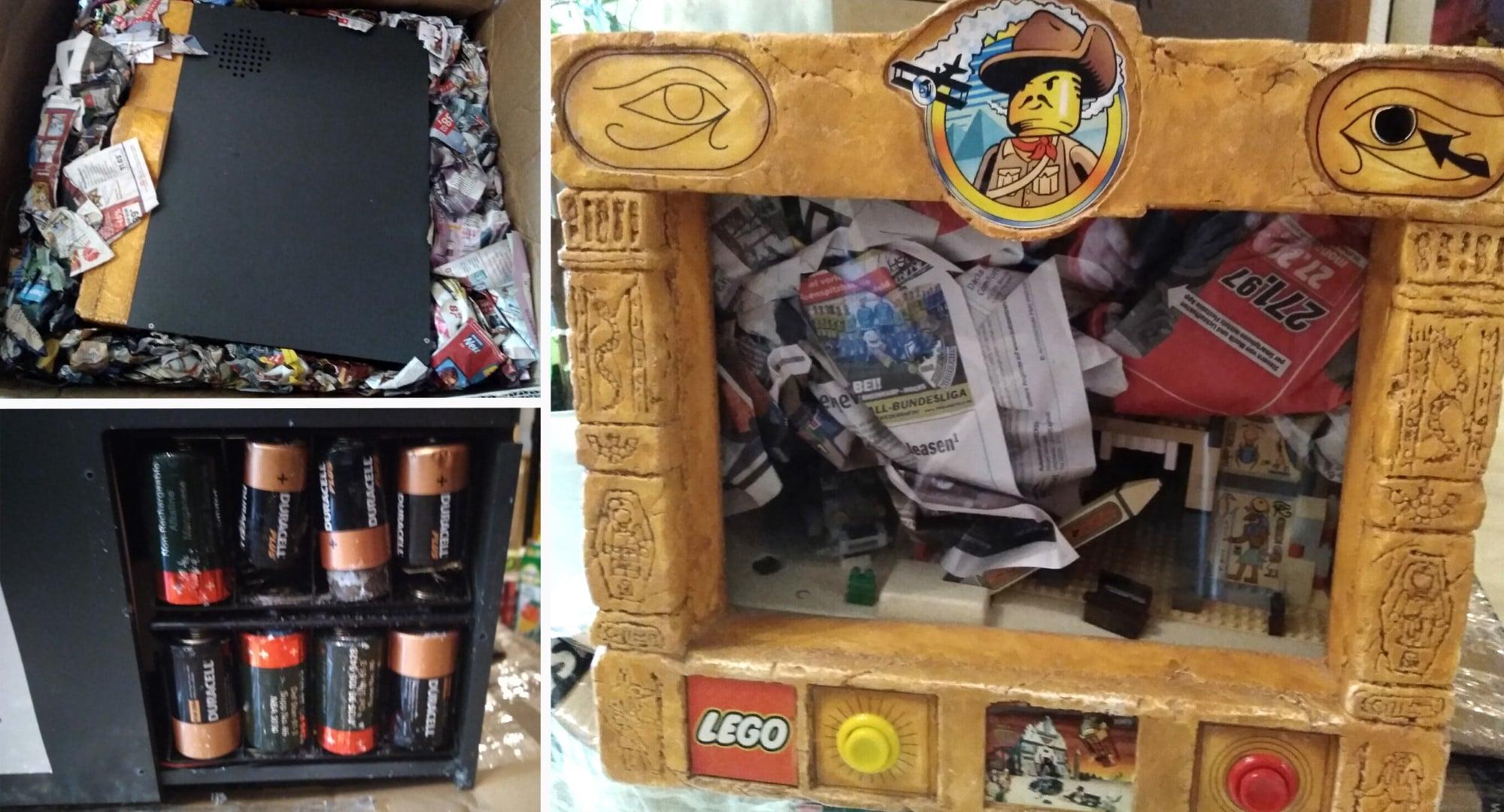 LEGO Adventurers Display Bestandsaufnahme Auspacken