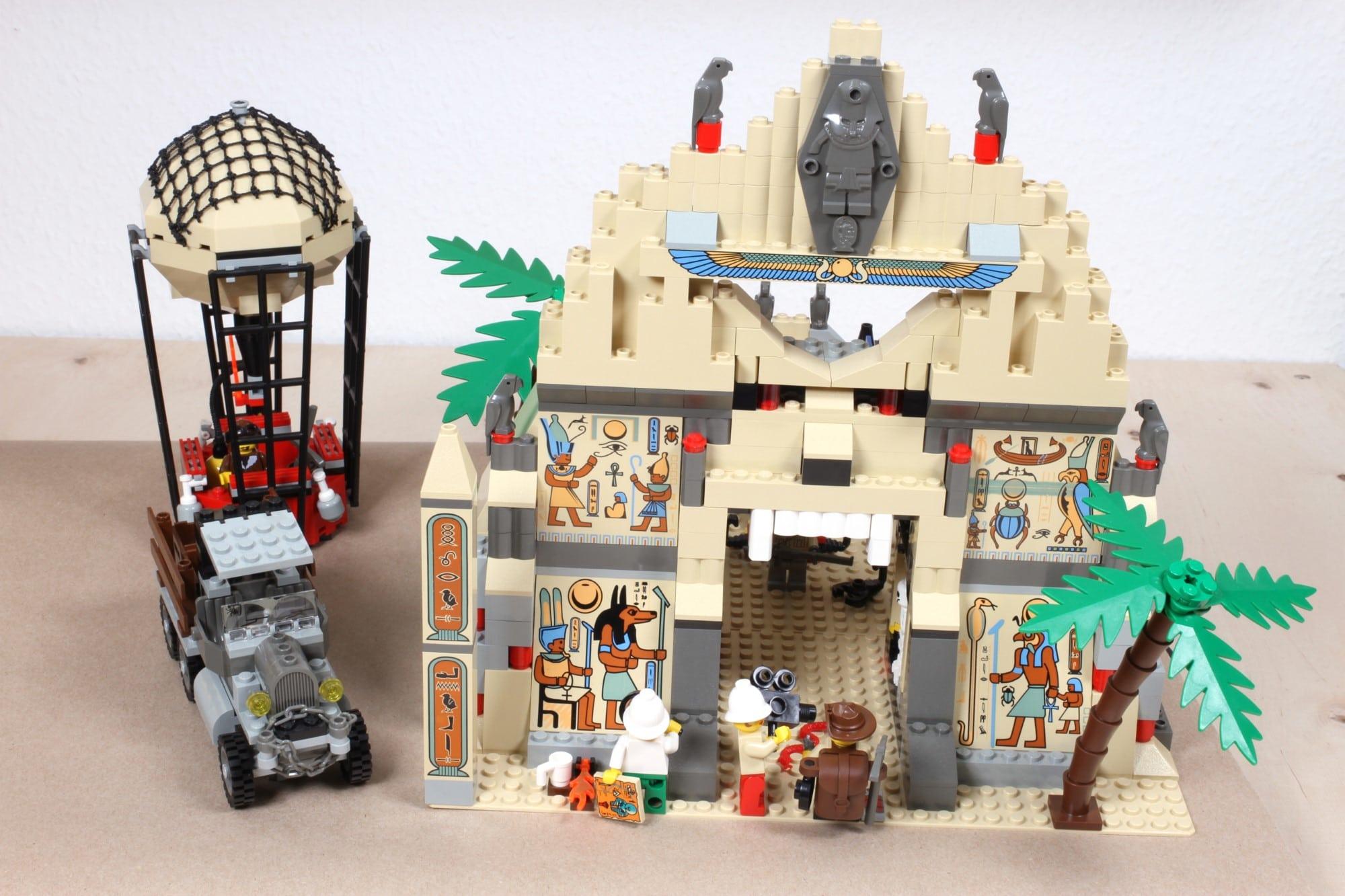LEGO Adventurers Display Sollzustand Nach Restaurierung