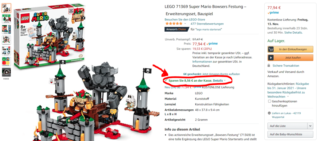 LEGO Angbeote Amazon Singles Day