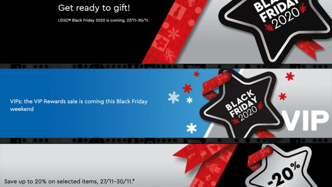 LEGO Black Friday 2020 Vip Sale