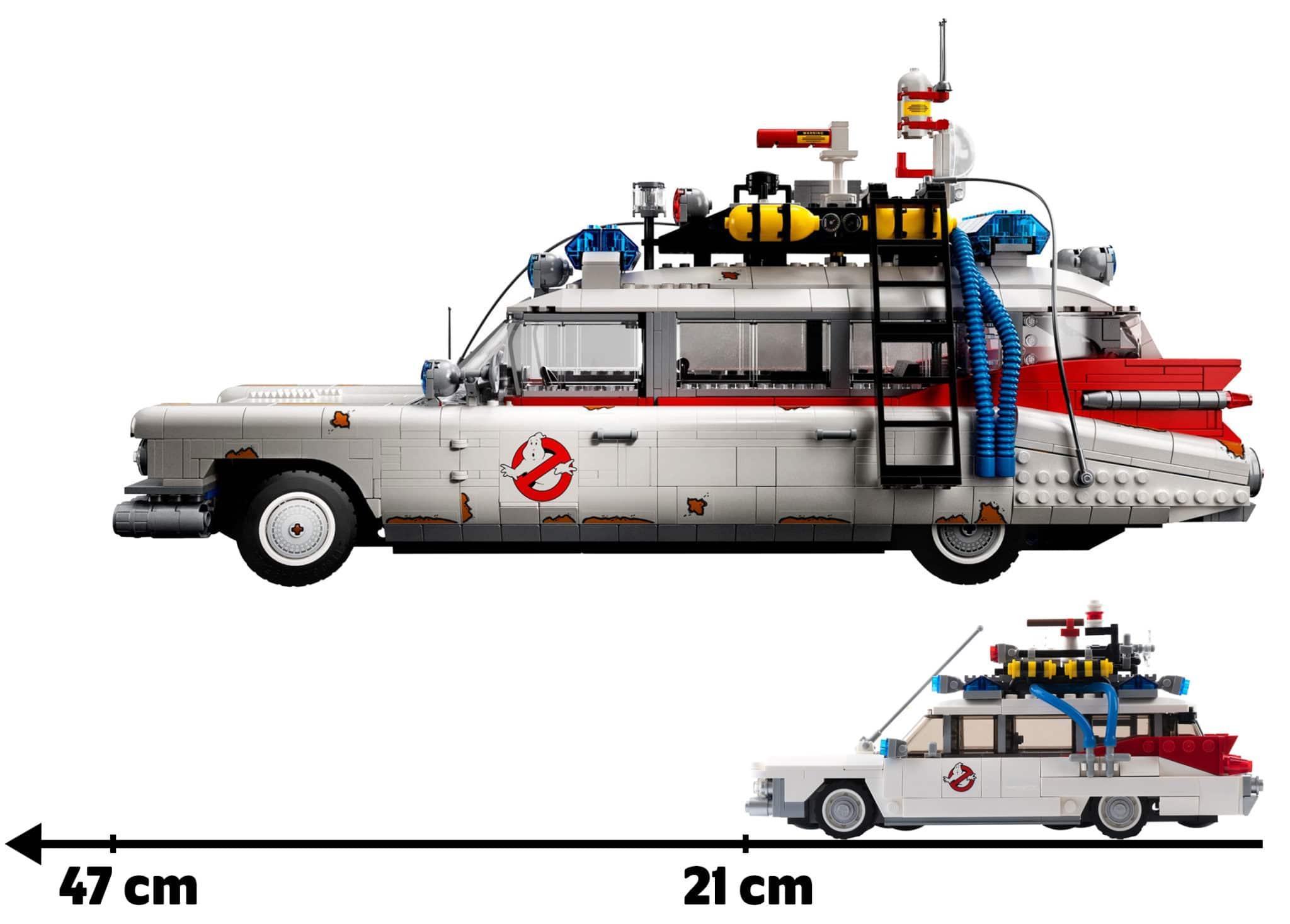 LEGO Ghostbusters Ecto-1 Größenvergleich