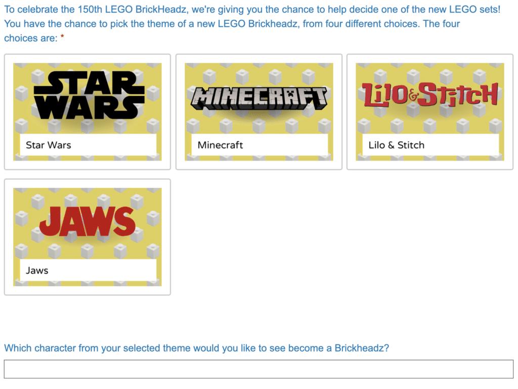 LEGO Ideas BrickHeadz Abstimmung