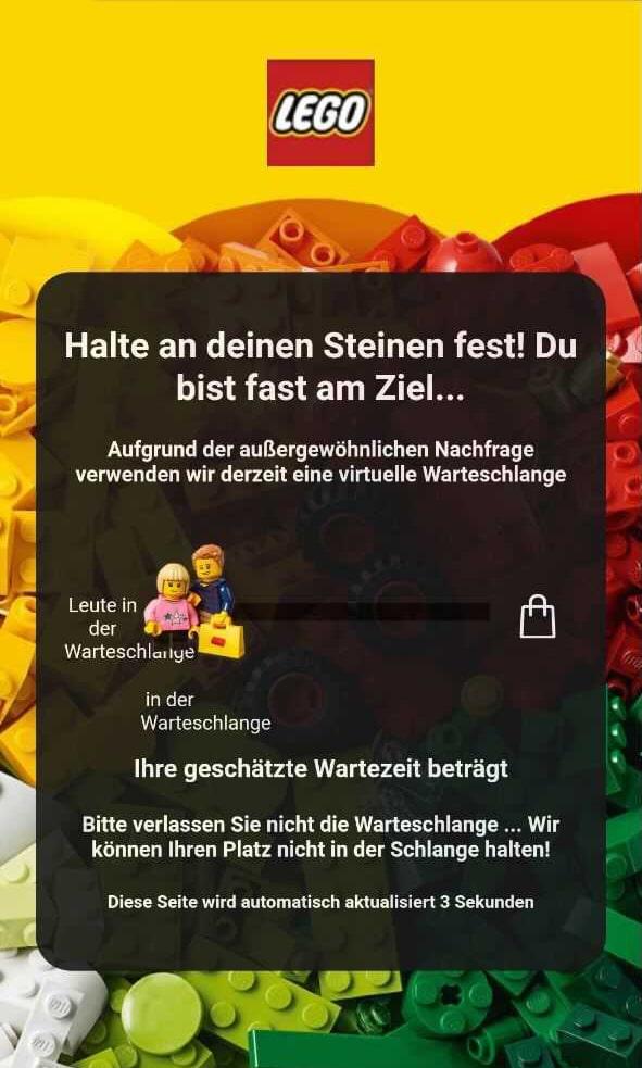 LEGO Online Shop Warteschlange 01
