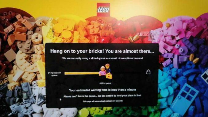 LEGO Online Shop Warteschlange Titel