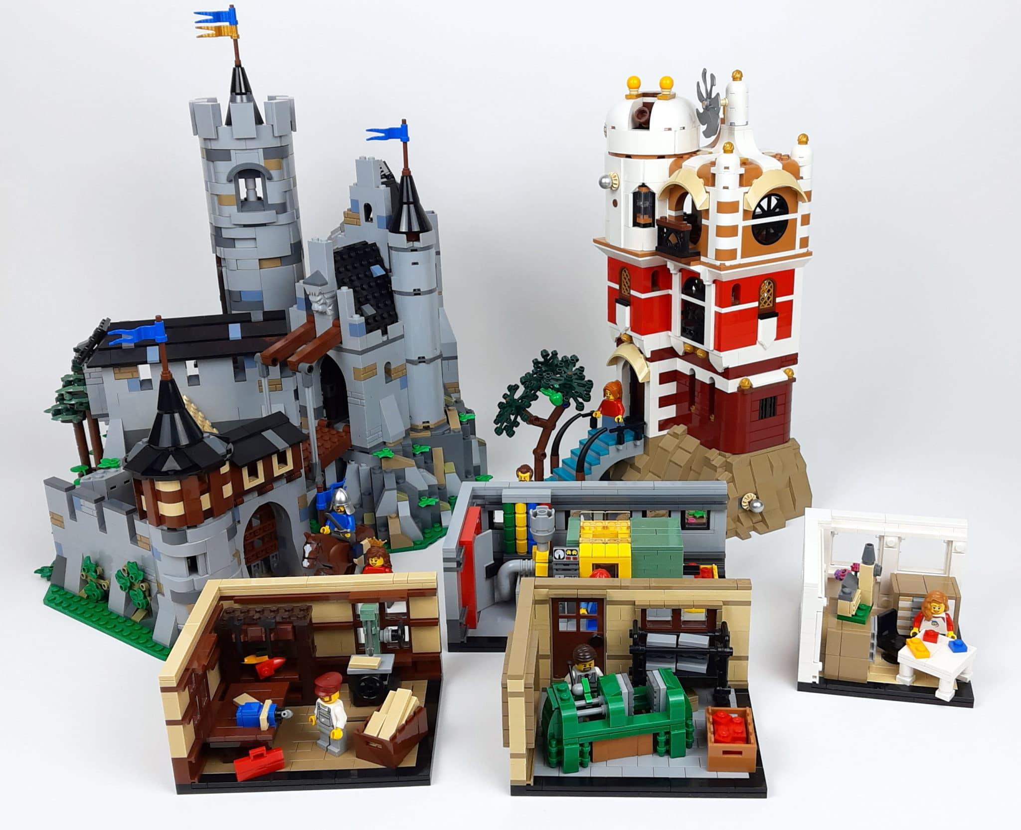 BrickLink AFOL Design Program: Löwenstein Castle, Science Tower und The LEGO Story