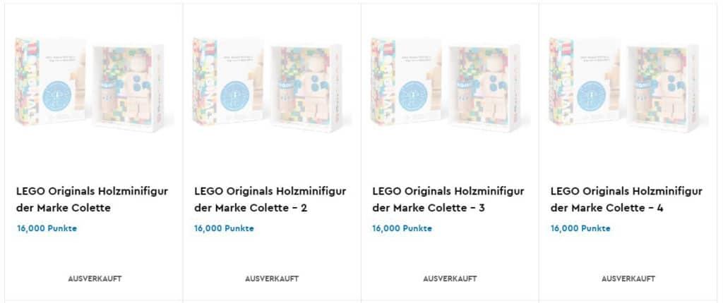 LEGO x Colette Holz Minifigur VIP-Prämie