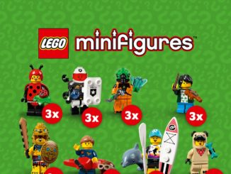 LEGO 71029 Minifiguren Serie 21 Verteilung 3x Titel