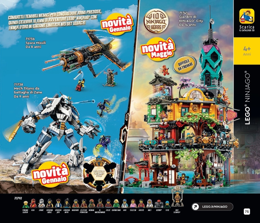 LEGO 71741 Ninjago City Gardens Italien Katalog