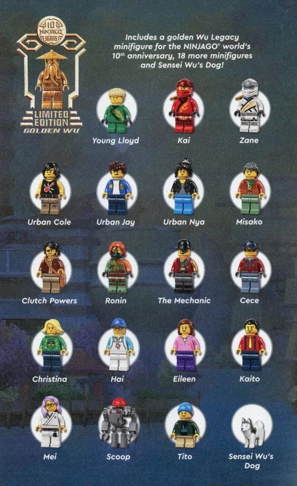 LEGO 71741 Ninjago City Gardens Minifiguren