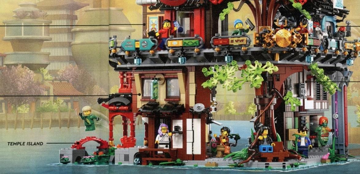 LEGO 71741 Ninjago City Gardens Unteres Level