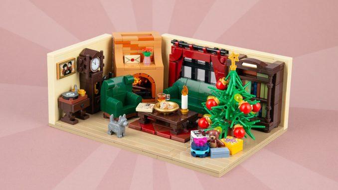 LEGO Moc Weihnachts Wohnzimmer Titelbild