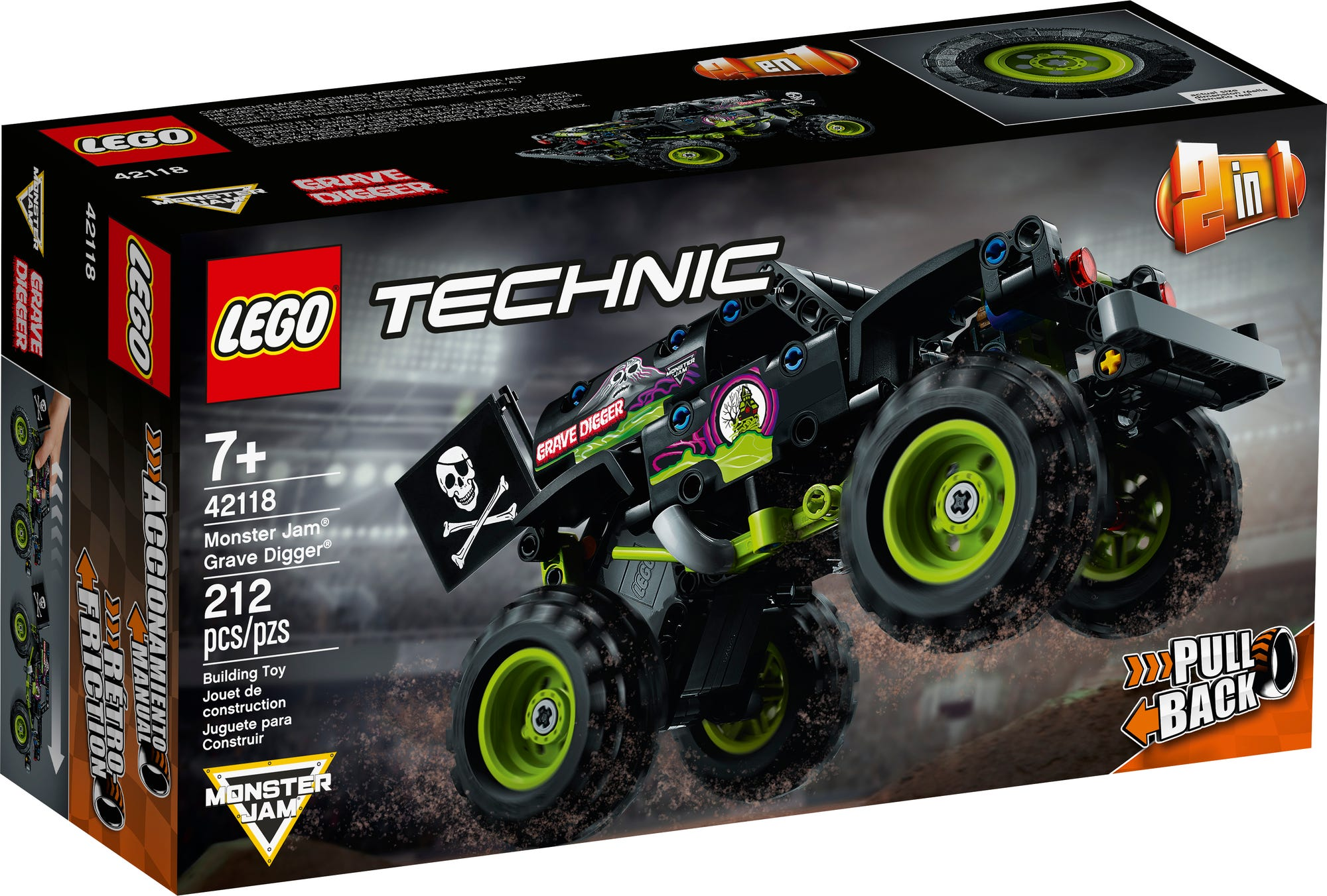 LEGO Technic 42118 Monster Jam Grave Digger (2)