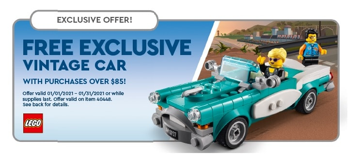 LEGO Us Store Flyer 40448 Vintage Car
