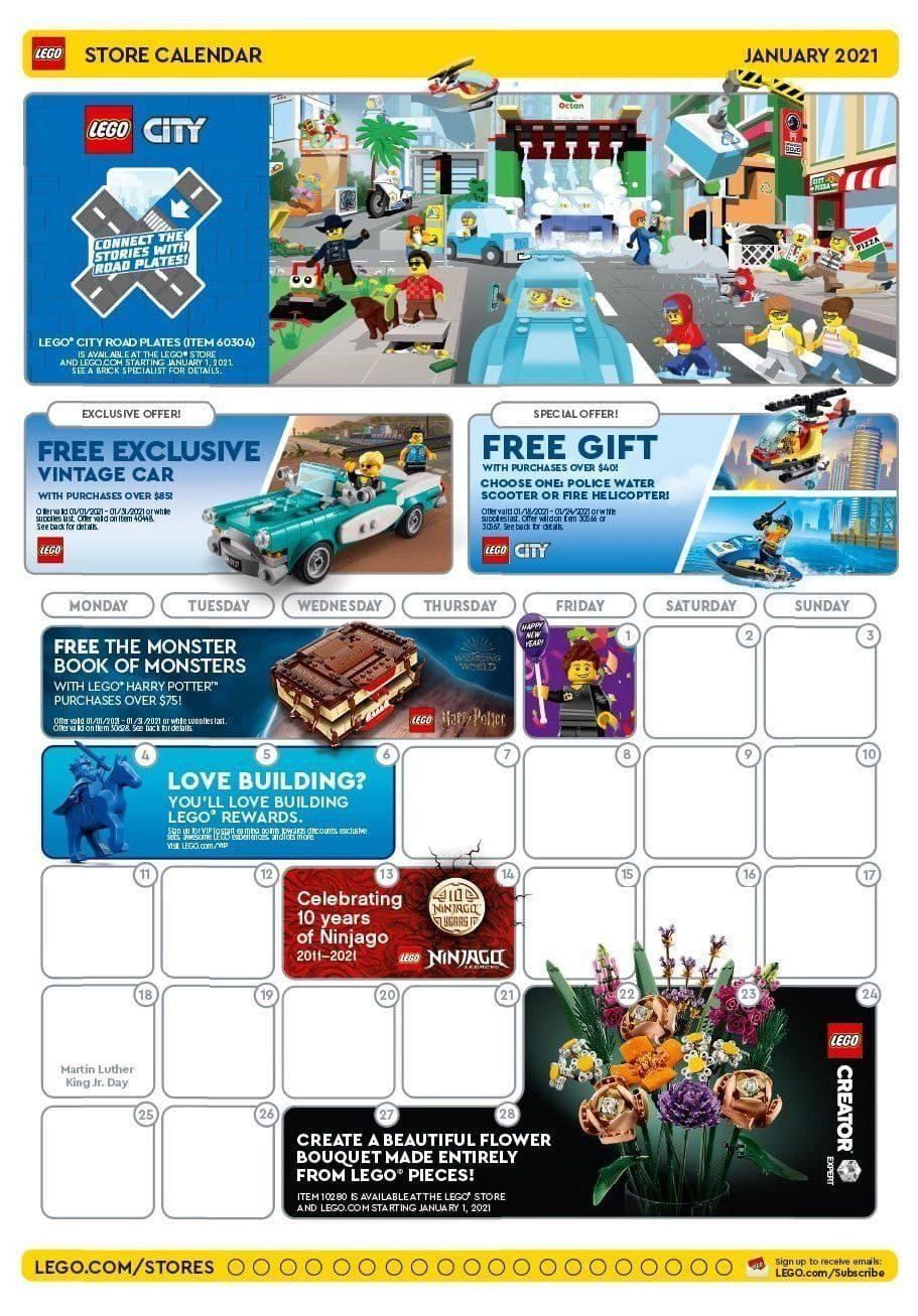 LEGO Us Store Kalender Januar 2021