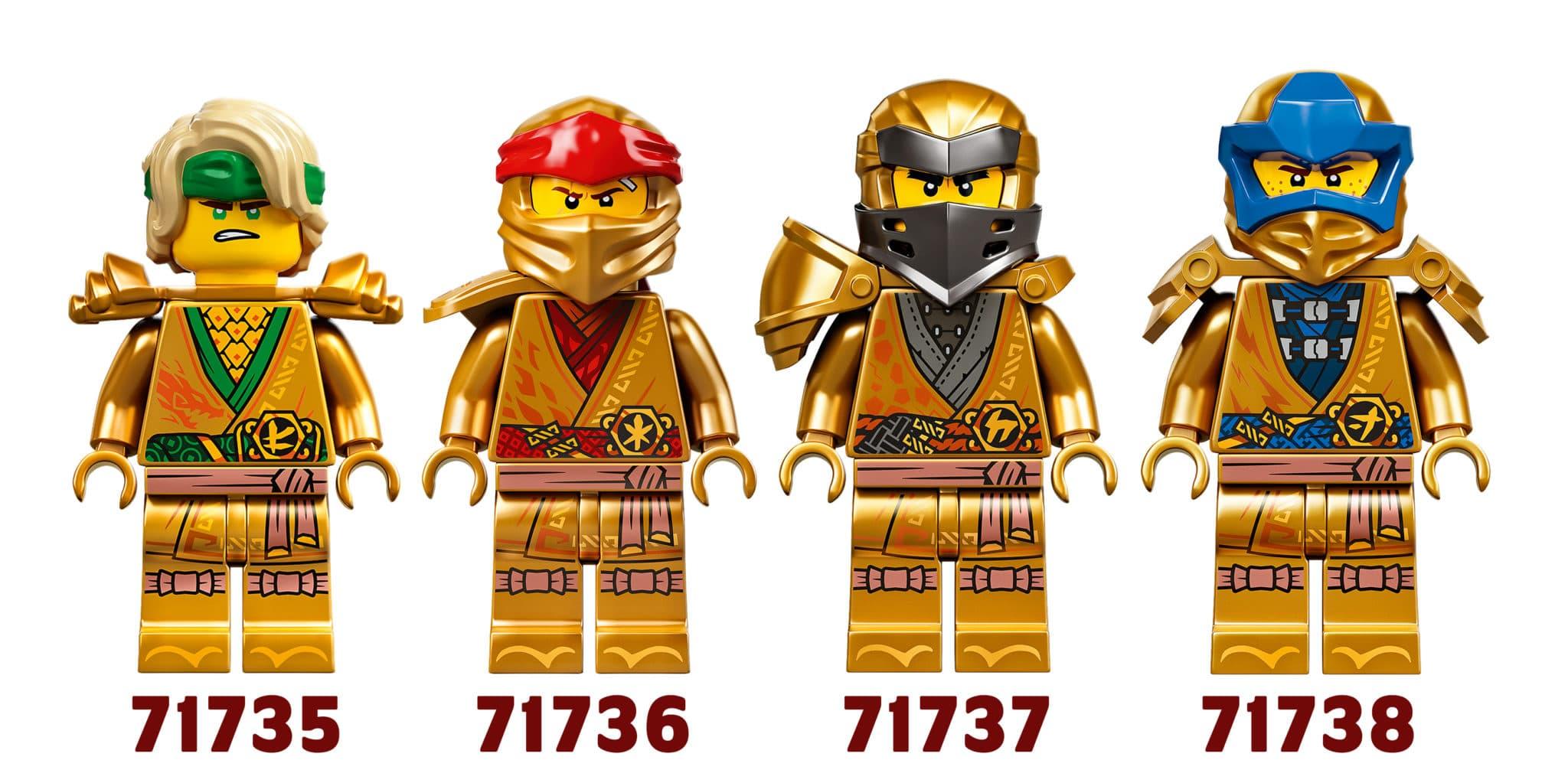 10 Jahre Ninjago Goldene Ninjas Jay Kai Lloyd Cole
