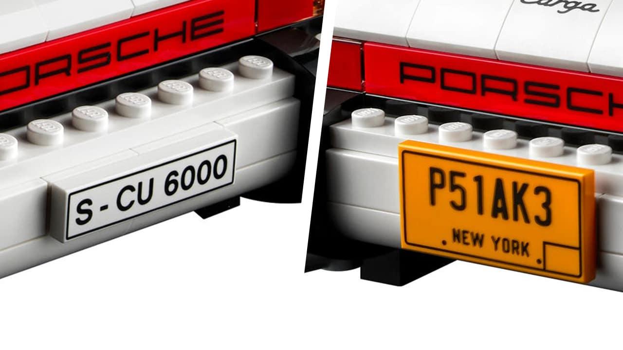 LEGO 10295 Porsche 911 Kennzeichen