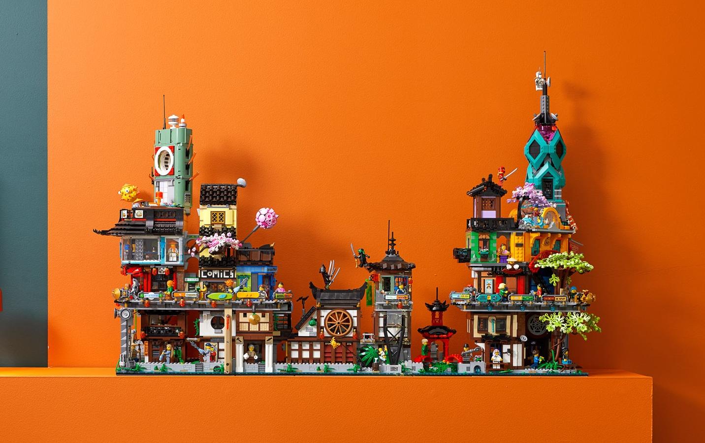 LEGO 71741 Ninjago City Gardens Komplette Reihe