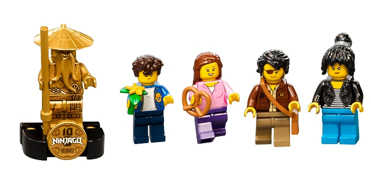 LEGO 71741 Ninjago City Gardens Minifiguren 01