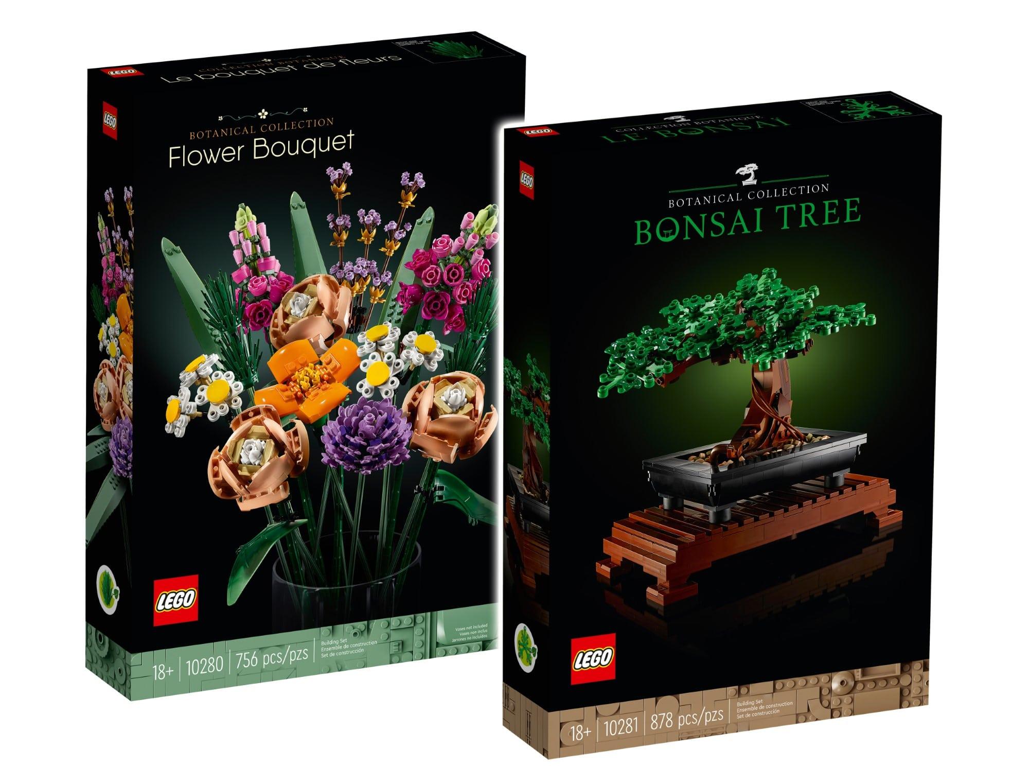 LEGO Botanical Collection Übersicht Boxen