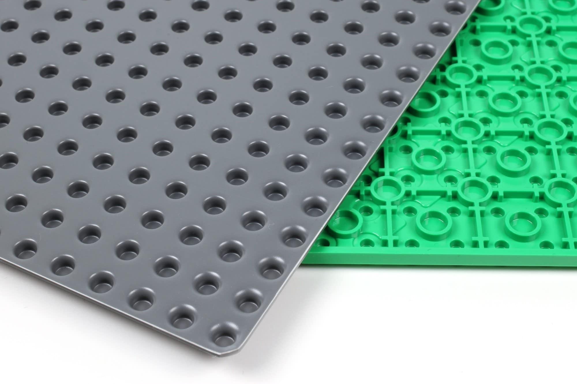 LEGO City Straßenplatten Einordnung Unterseite Grundplatte