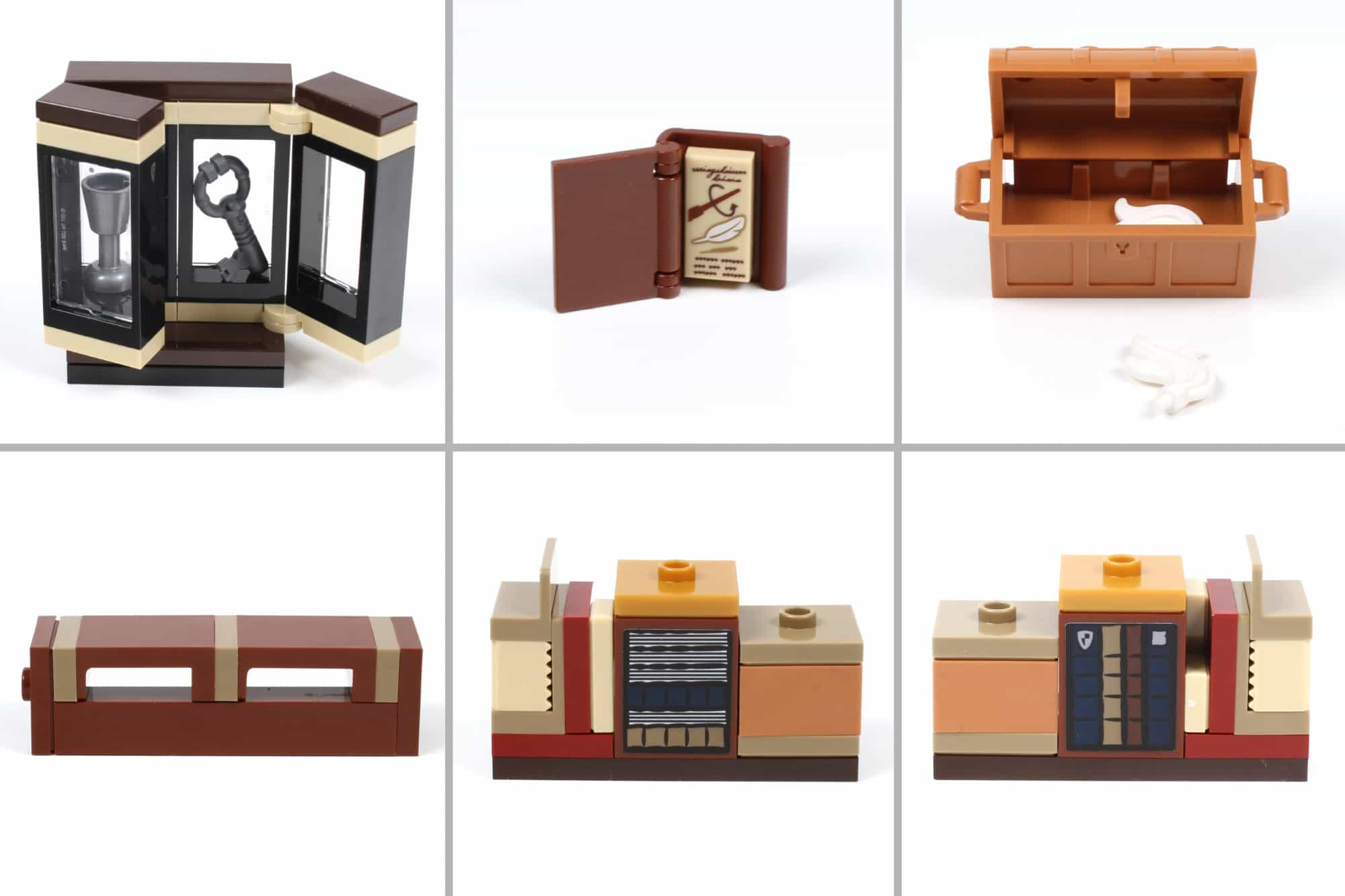 LEGO Harry Potter 76385 Hogwarts Moment Zauberkunstunterricht Minibuilds Schritt 1