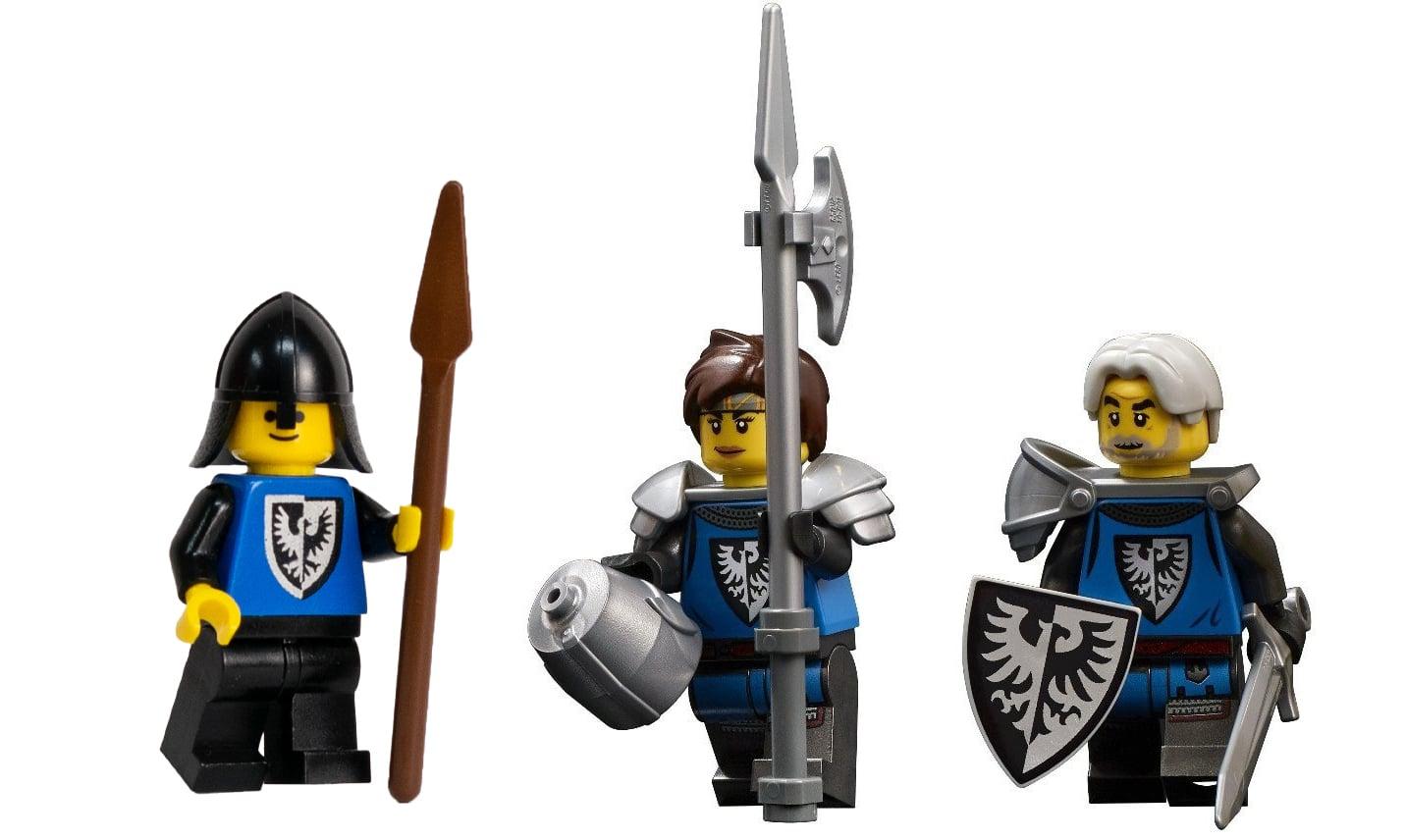 LEGO Ideas 21325 Mittelalterliche Schmiede Falkenritter Minifiguren Vergleich