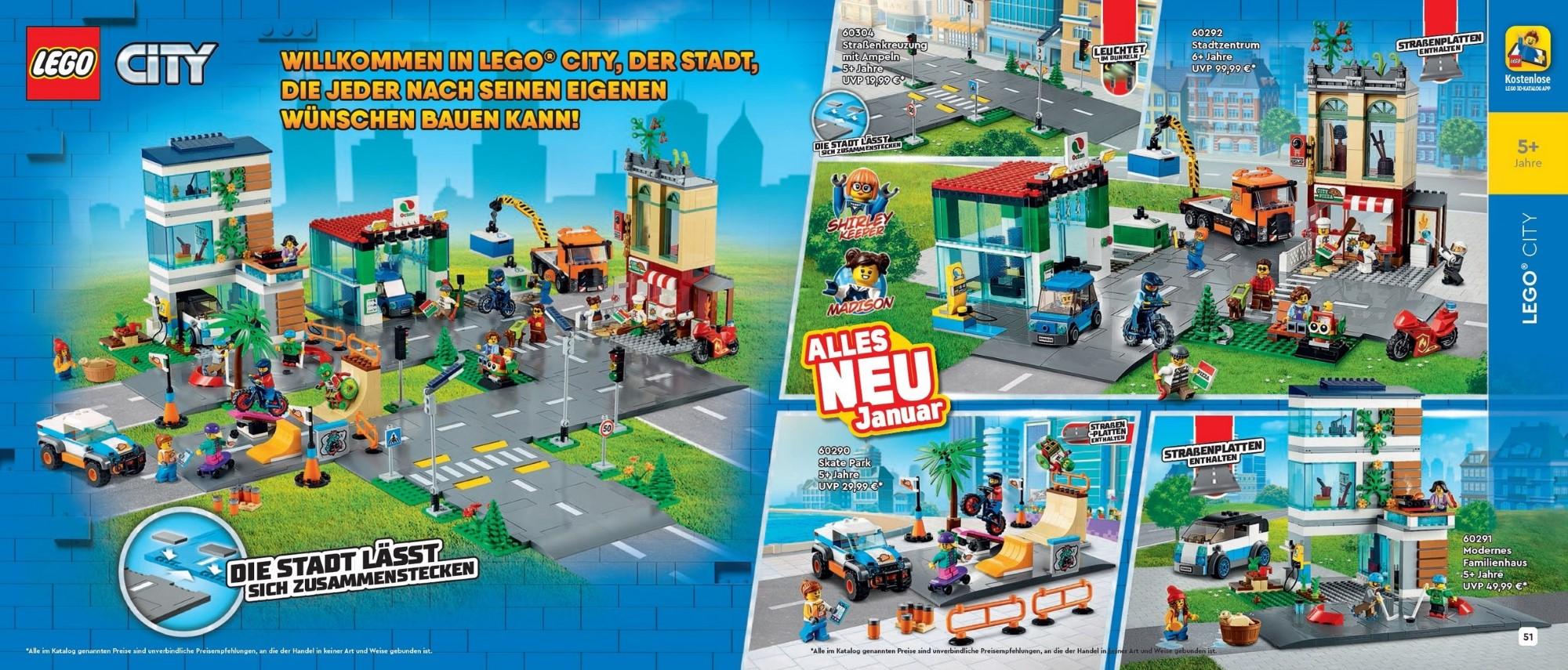 LEGO Katalog De 1hj 2021 Doppelseite City