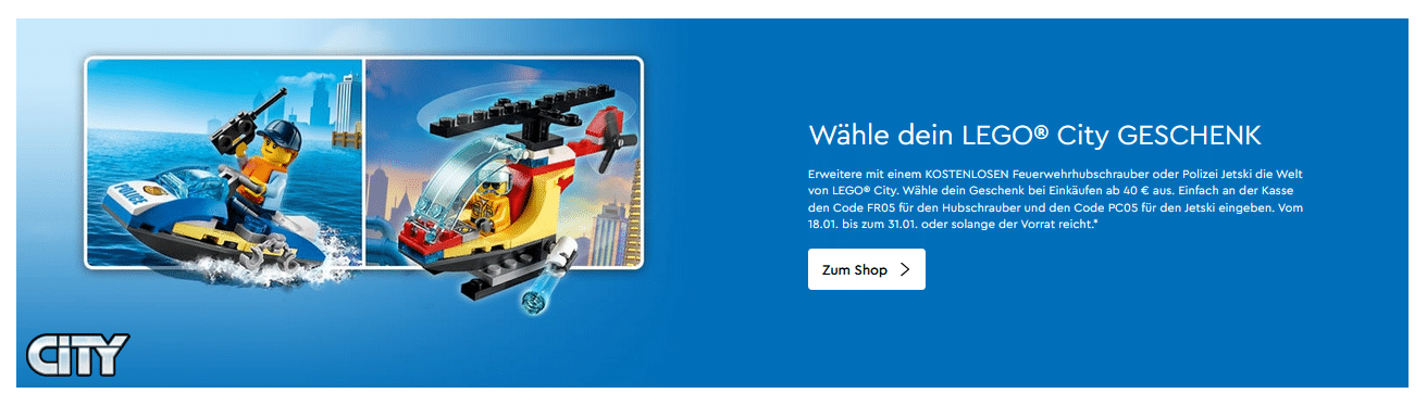 LEGO Onlineshop Free City Polybag Gwps January