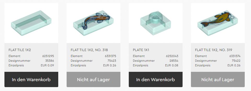 LEGO Steine Und Teile Koi 80107
