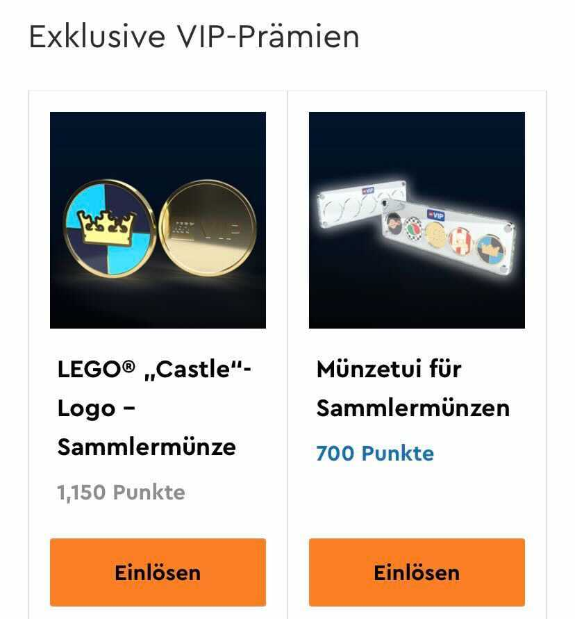 LEGO Vip Castle coin and case