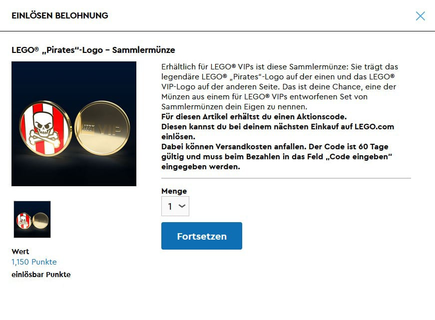 LEGO Vip Muenze Piraten Screenshot