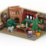 LEGO Wohnzimmer Rendering Stonewars