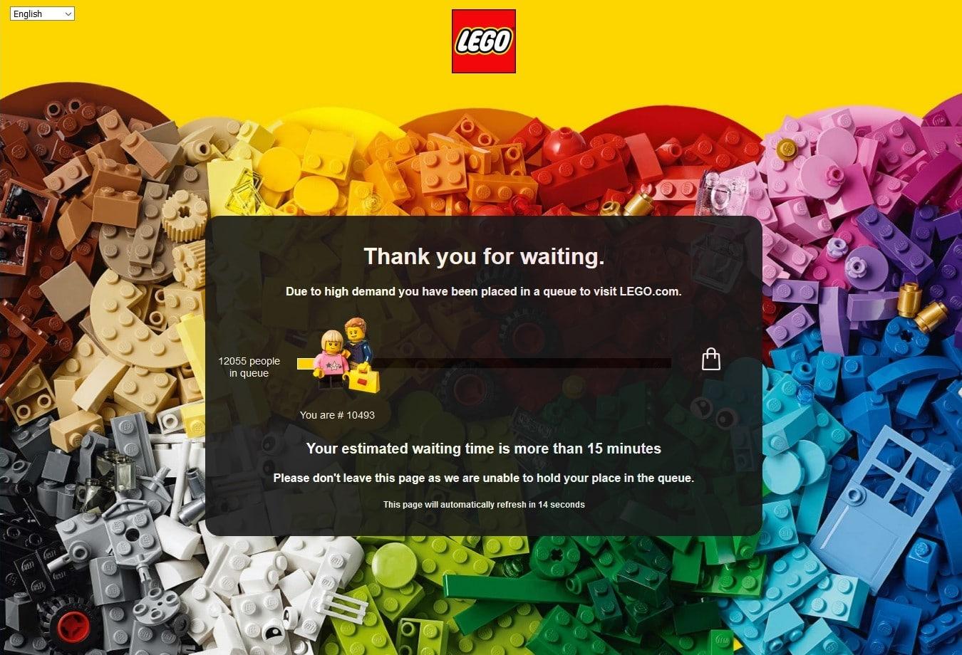 LEGO Shop Warteschlange Black Friday