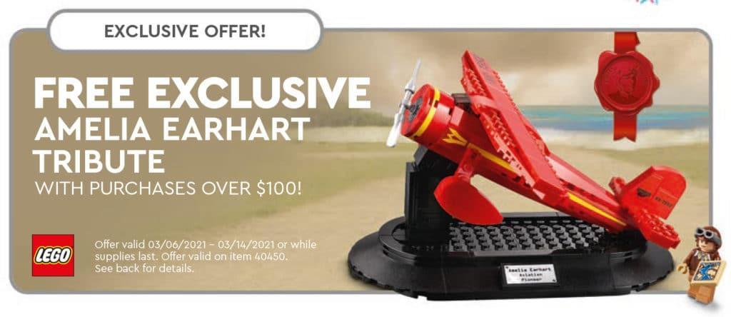 LEGO 40450 Amelia Earthart Gwp
