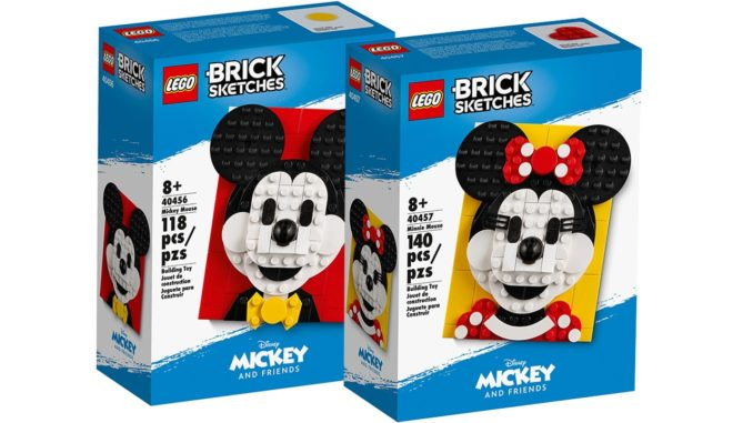 LEGO Brick Sketches Minnie Mickey Mouse