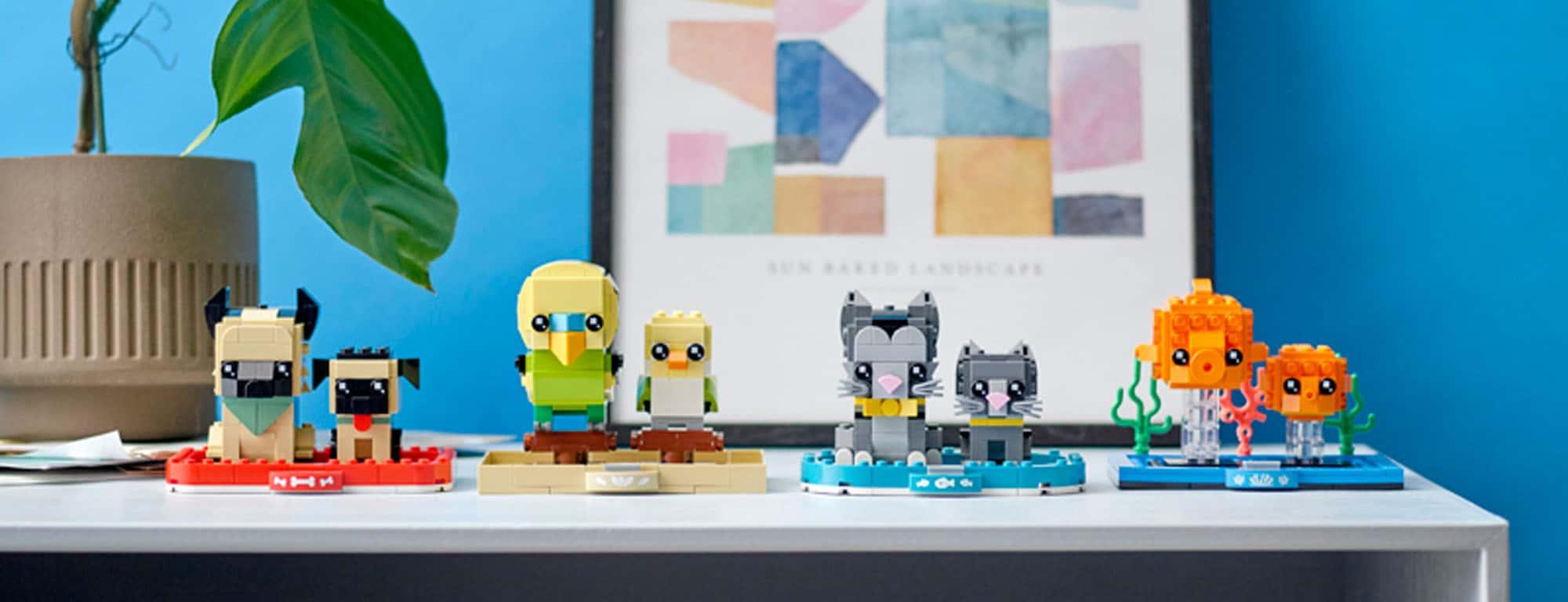 LEGO Brickheadz Pets 2021 März Alle Banner