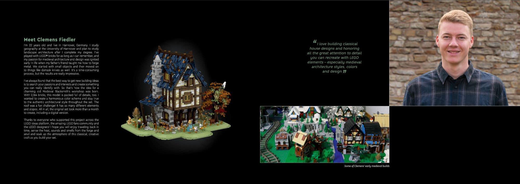 LEGO Ideas 21325 Mittelalterliche Schmiede Anleitung Fan Designer