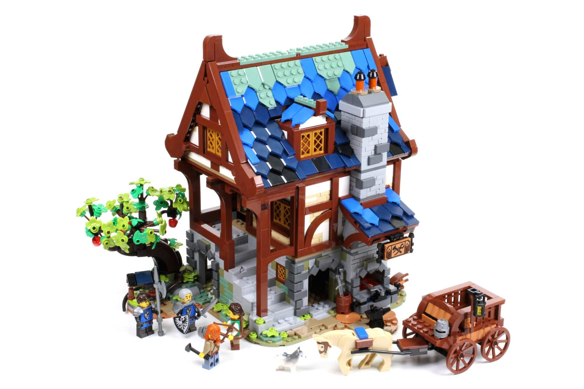 LEGO Ideas 21325 Mittelalterliche Schmiede Bauabschnitt 14 5
